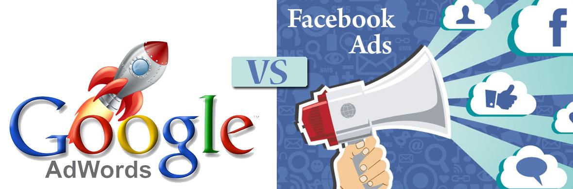 quảng cáo facebook và google