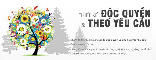 thiết kế web theo yêu cầu độc quyền